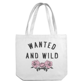 Wanted And Wild Canvas Tote