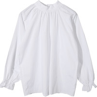 Ruched Self-Tie Detail Blouse