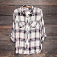 button-up flannel shirt - pink