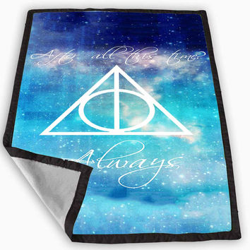 Harry Potter Deathly Hallows Blanket for Kids Blanket, Fleece Blanket Cute and Awesome Blanket for your bedding, Blanket fleece **