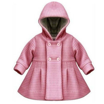 Free Shipping 2016 New High Quality Fashion Baby Coat Autumn and Winter Cotton Lining Jacquard Coat 2 Color YY0556