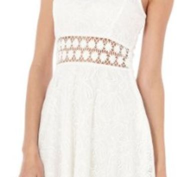 Bailey Blue Juniors White Lace Dress Medium White