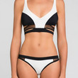 Black & White Color Block with Cut-Out Bikini
