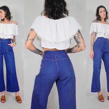 70's Softest Bell Bottom Jeans 28x27