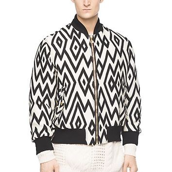 Versace - Diamond patterned bomber jacket