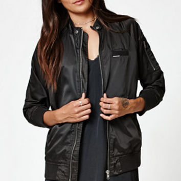 Members Only Washed Satin Bomber Jacket at PacSun.com
