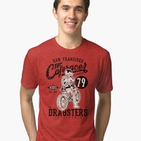 'DRAGSTER Motorcycles' Tri-blend T-Shirt by hypnotzd