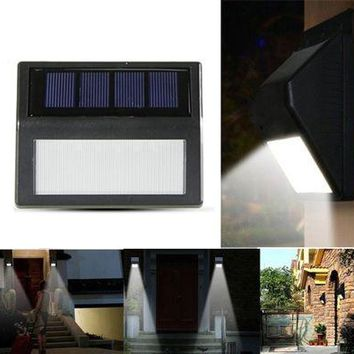 6 LED Solar Lamp Waterproof Solar Night Light Motion Sensor Porch Path Street Fence Garden Stairs Wall Corridor