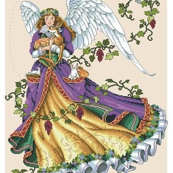 Cross Stitch Kit Guardian Angel and Deer Dove Goddess dim 03820 3820