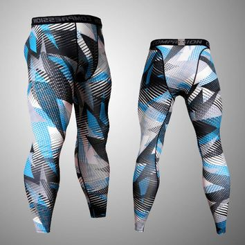 Men's Quick-Drying Running Tights  Workout Jogging Pants Men Compression Camouflage Sportswear Fitness Pants Training Sport