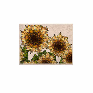 "Art Love Passion ""Sunflower Field"" Beige Yellow KESS Naturals Canvas (Frame not Included)"