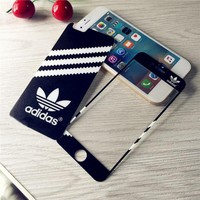 Black Adidas Tempered Glass Screen Protecter for iPhone