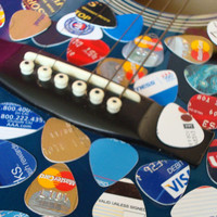 10 Guitar Picks - Recycled