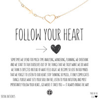Follow Your Heart Arrow Heart Necklace | Bryan Anthonys