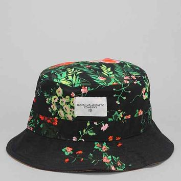 Profound Aesthetic Floral Bucket Hat - Black