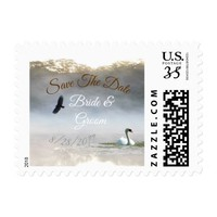 Morning Lake Mist Save the Date Postage