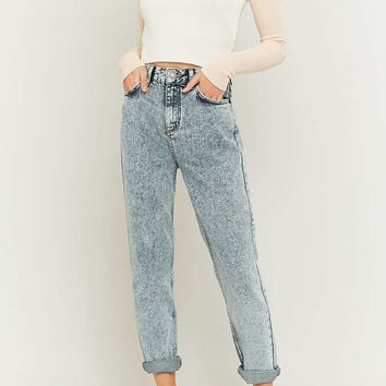 BDG Acid Washed Blue Mom Jeans - Urban Outfitters