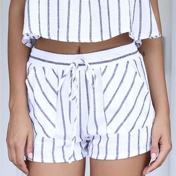 Newport Shorts (White/Black) | Xenia Boutique | Women's fashion for Less - Fast Shipping