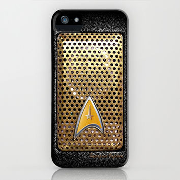 iPhone and iPod case - Retro Vintage Star trek Communicator radio apple iPhone 3, 4 4s, 5 5s 5c, iPod & samsung galaxy s4 case cover