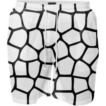 Black and White Mosaic pattern