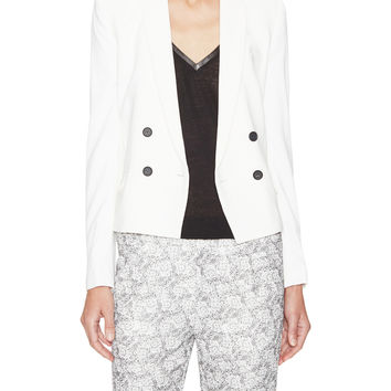 The Kooples Women's Unstructured Double-Breasted Jacket - White -