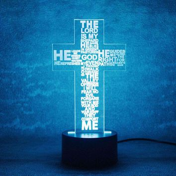 The Lord Prayer 3D LED Lamp