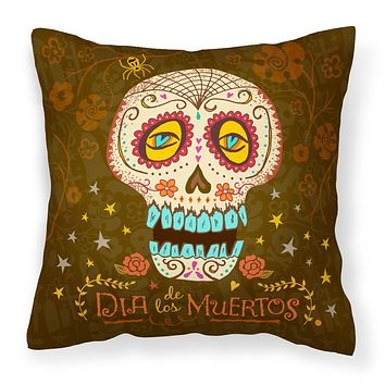 Day of the Dead Fabric Decorative Pillow VHA3031PW1414