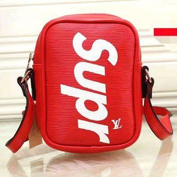 PEAPV9O LV x Supreme Fashion Leather Daypack Travel Bag B-LLBPFSH