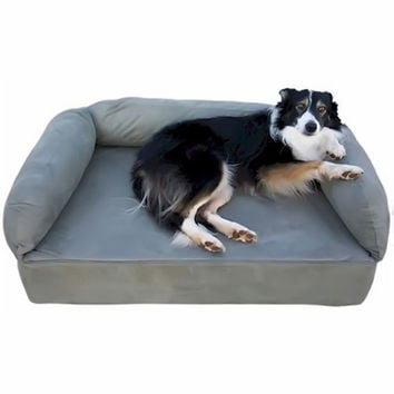 Snoozer Pet Dog Cat Puppy Indoor Comfortable Soft Quilted Luxury Regular Foam Sofa Sleeping Bed Large Pink