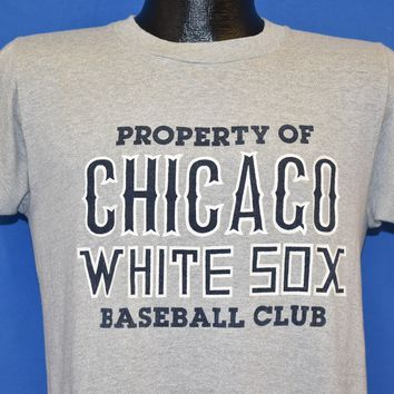 80s Property Of Chicago White Sox Baseball Club t-shirt Medium