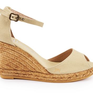 Aiguafreda Canvas Wedges - Beige