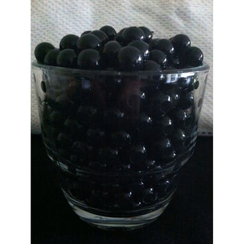 Water Beads Pearls Jelly Balls Vase Fillers, Large, Black