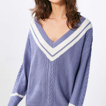 BDG Game Set Match Deep-V Pullover Sweater - Urban Outfitters