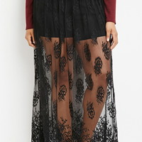 Plus Size Lace Maxi Skort