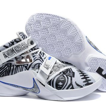 "NIke Zoom LeBron James  Soldiers 9 Ⅸ ""Graffiti"" Basketball  Shoes"