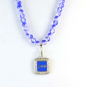 ZETA PHI BETA  Crystal Necklace Jewelry