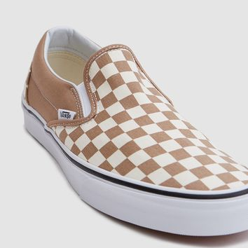 Vans / Classic Slip-On Checkerboard in Tiger's Eye