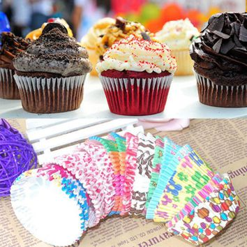 New Cute Paper Cake Cup Chocolate Liners Baking Pastry Tools Muffin Cake Party Birthday Wedding Cupcake Cases 100 PCS SHFGHDTGHJ