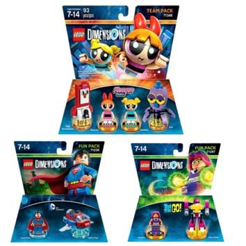 Lego The Powerpuff Girls Teen Titan Go DC Superman Team Pack By LEGO Dimensions | Games Powerpuff Girls Level Pack Teen Titan Go Fun Pack DC Superman Fun Pack