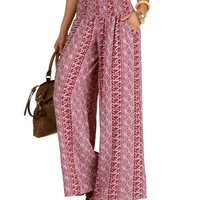 Sale-burgundy Roundabout Tribal Pants