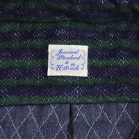 journal standard - the hill side button collar shirt quilted flannel stripe navy green
