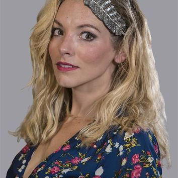 Beaded Feather Hippie Headband