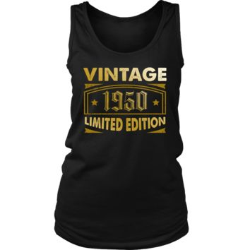 Women's Vintage 1950 68 Year Old Birthday Gift Tank Top