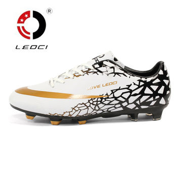 LEOCI Broken Nails Football Shoes TF Trained Men Soccer Shoes Outdoor Lawn SG Football 2017 Hard-wearing Boots Soccer Cleats