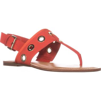 Tommy Hilfiger Lerry2 Flat Sandals, Orange Multi, 8 US