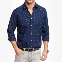 FITTED ANCHOR PRINT SHIRT