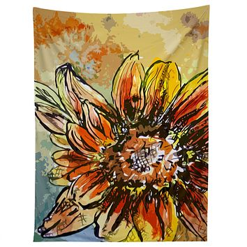 Ginette Fine Art Sunflower Moroccan Eyes Tapestry