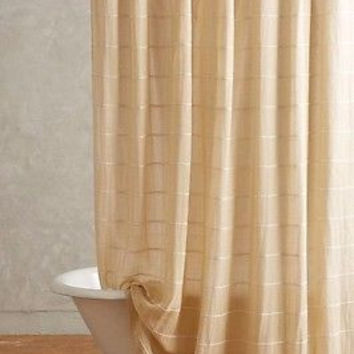NWT Anthropologie Masula Shower Curtain - Bronze