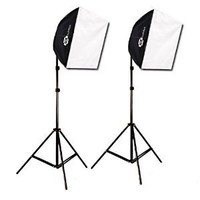 "PBL Studio Photography Video Light Kit Continuous Lighting Kit Video Lighting EZ 24""x 24"" Softbox Photographic Lighting"