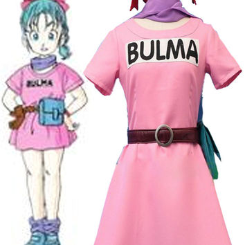 Dragon Ball Z Bulma Briefs youth ver cos Dress Cosplay Costume Halloween costume for women